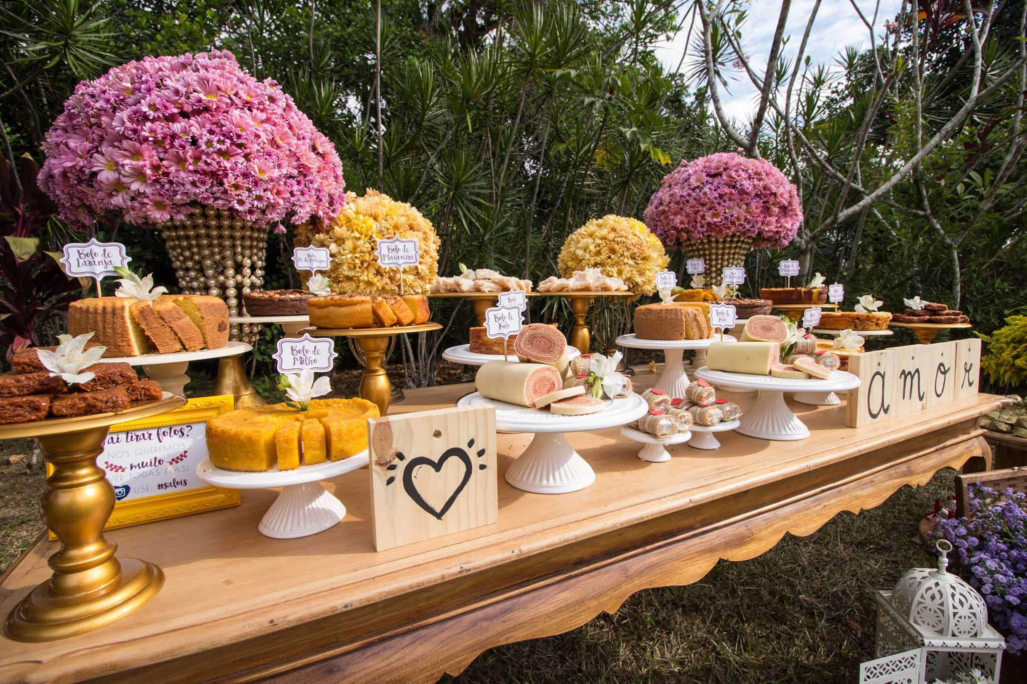comidas rústicas para casamento no campo