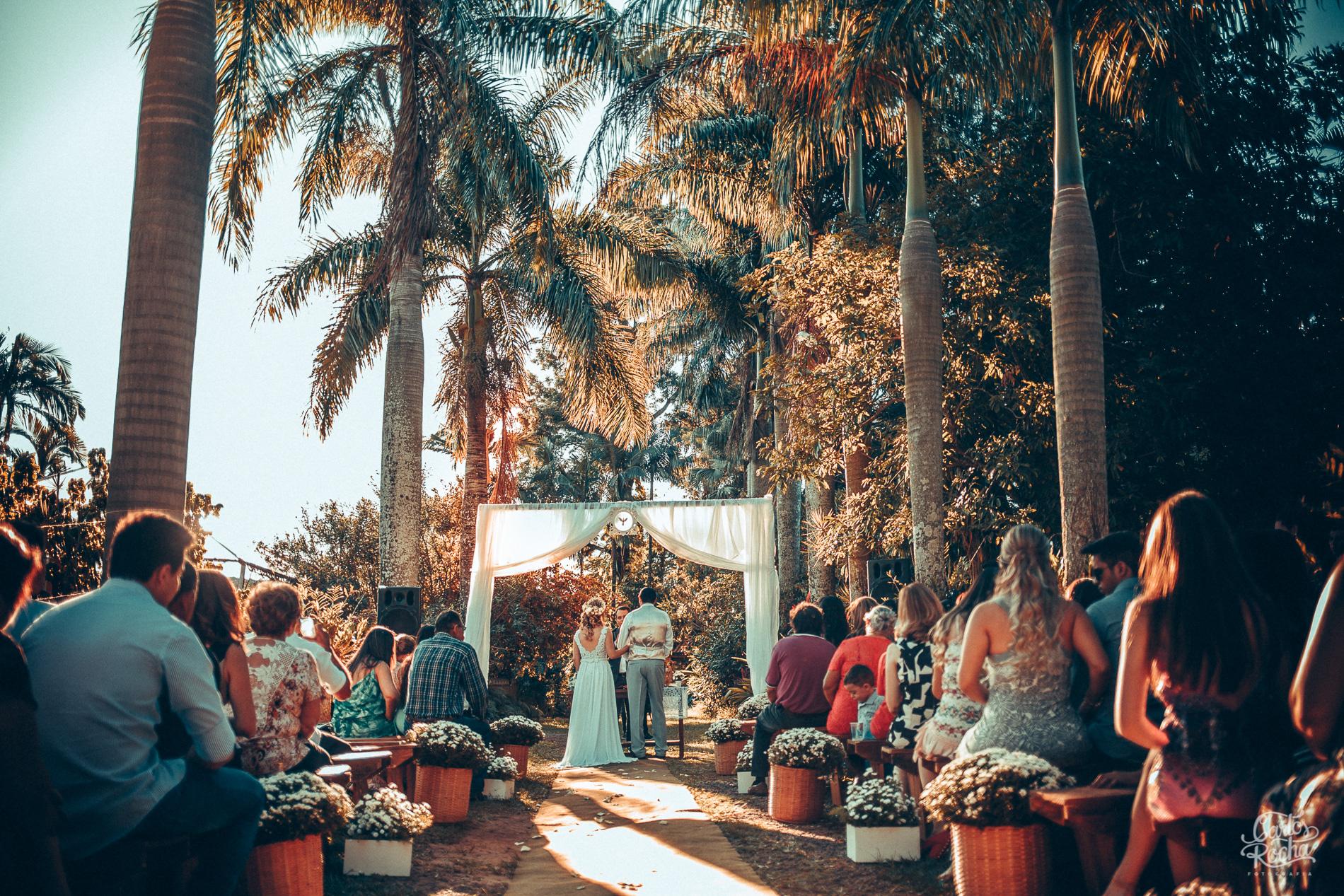 casamento no campo com por do sol