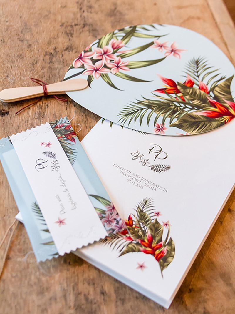 convite de casamento rústico bem florido