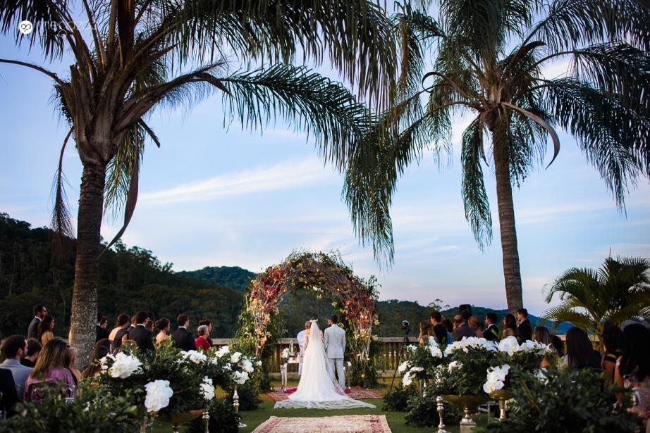 casamento no fim de tarde no campo