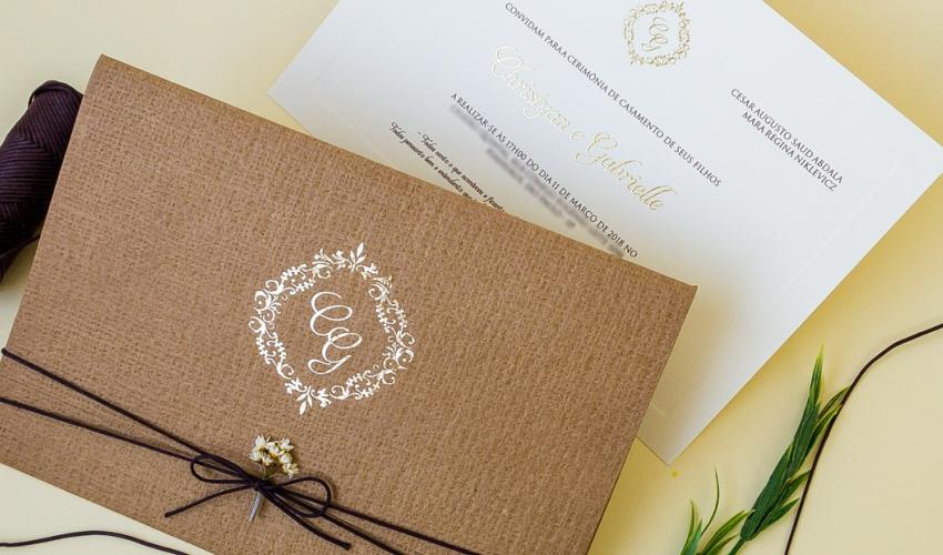 convite de casamento mais rústico
