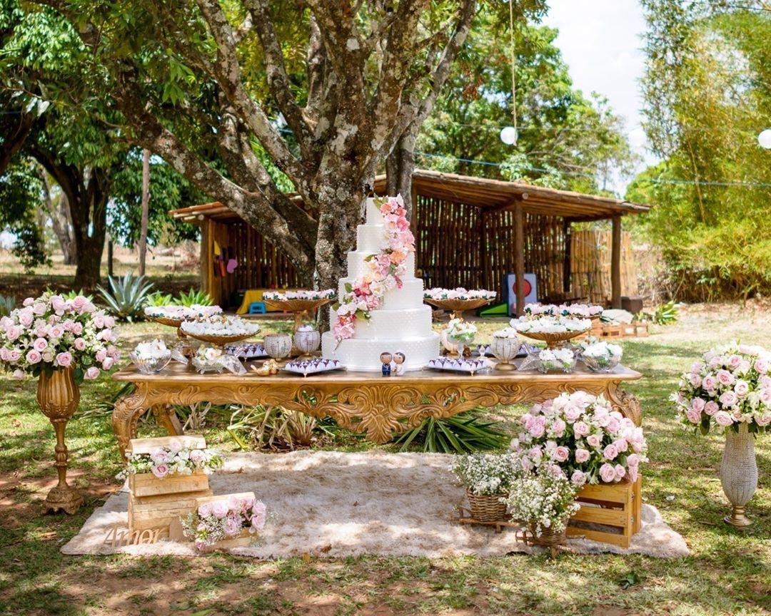 decoração para casamento de dia no campo