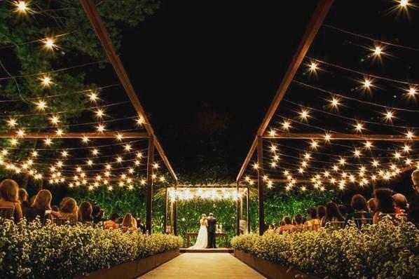 casamento de noite rústico