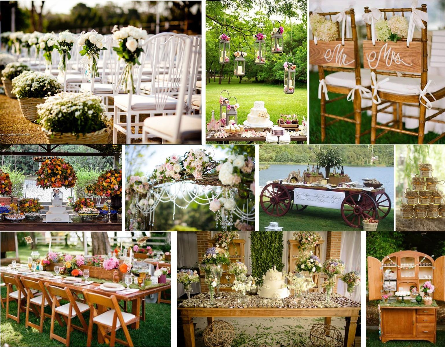 exemplos de decoração de casamento no campo