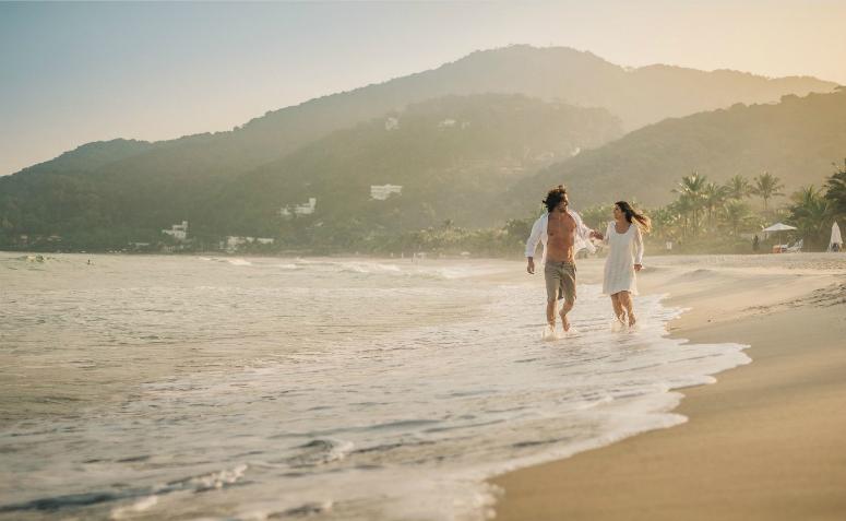 pré-wedding na praia