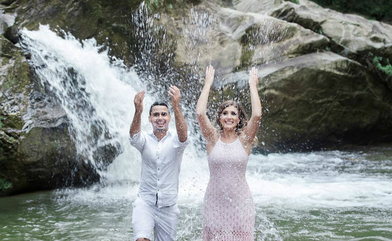 pré-wedding na cachoeira