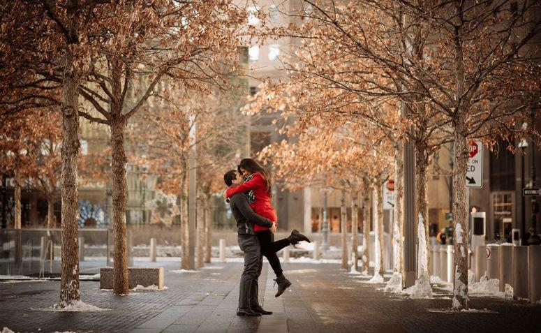 foto pré-wedding na cidade