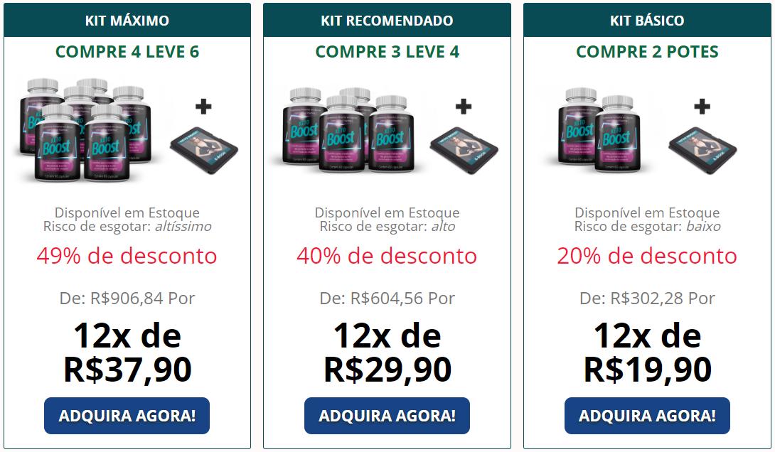preços do keto boost