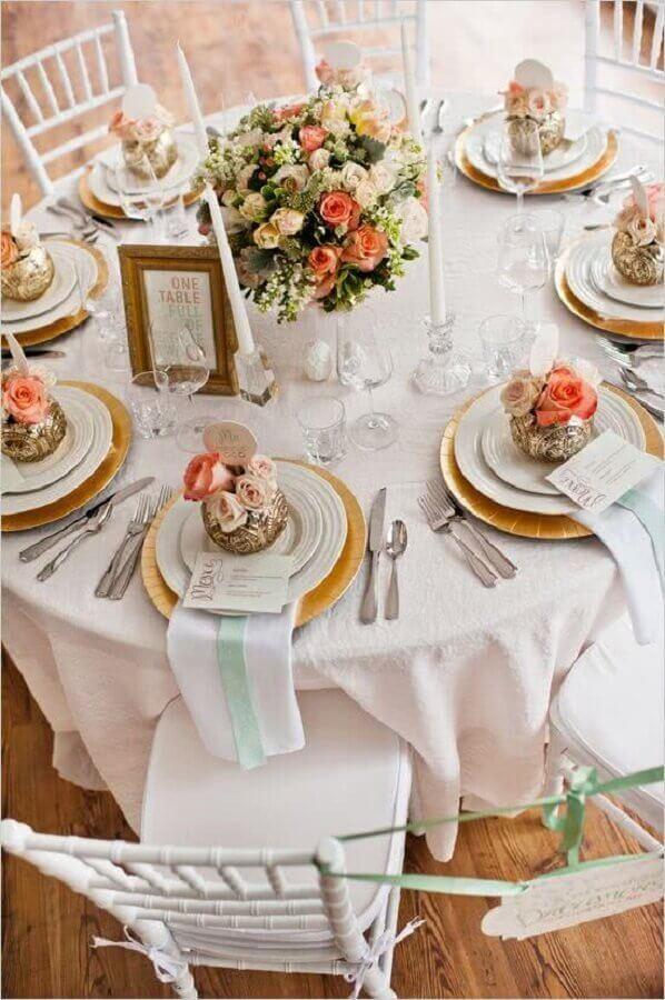 decoração de casamento com cores mais cleans