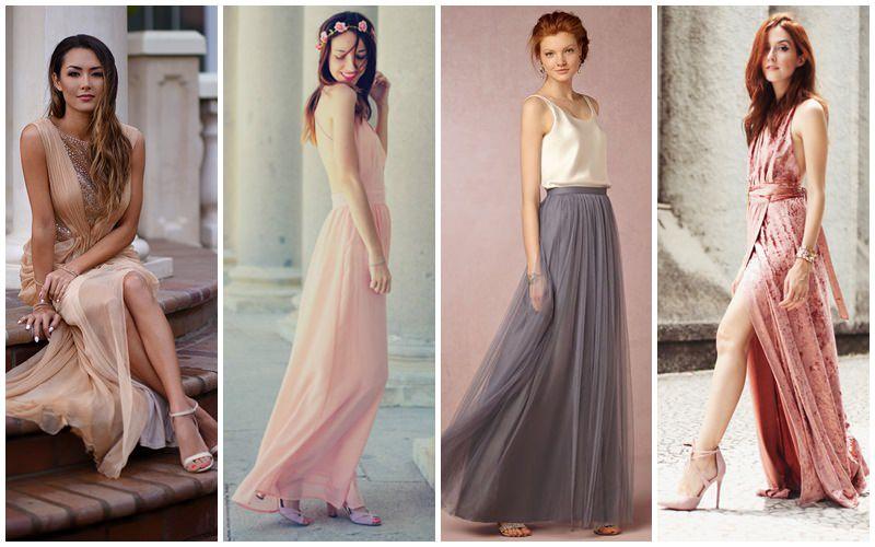vestido longo para noivado