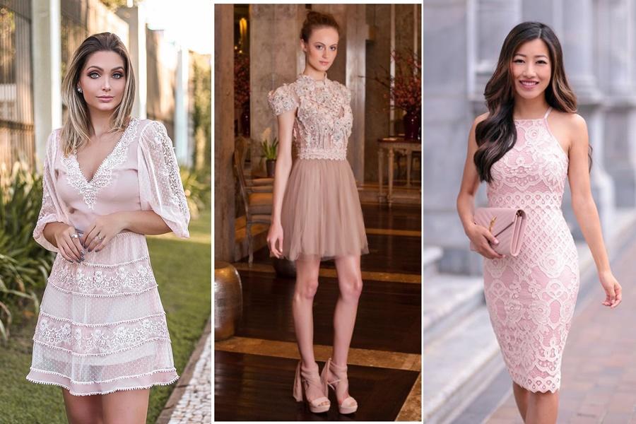 vestido de noivado tom rosê
