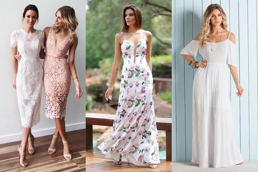 exemplos de modelos de vestidos de noivado longos