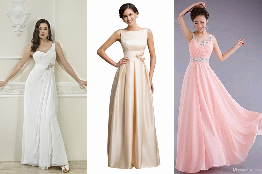 exemplos de vestidos de noivado para festa de noite