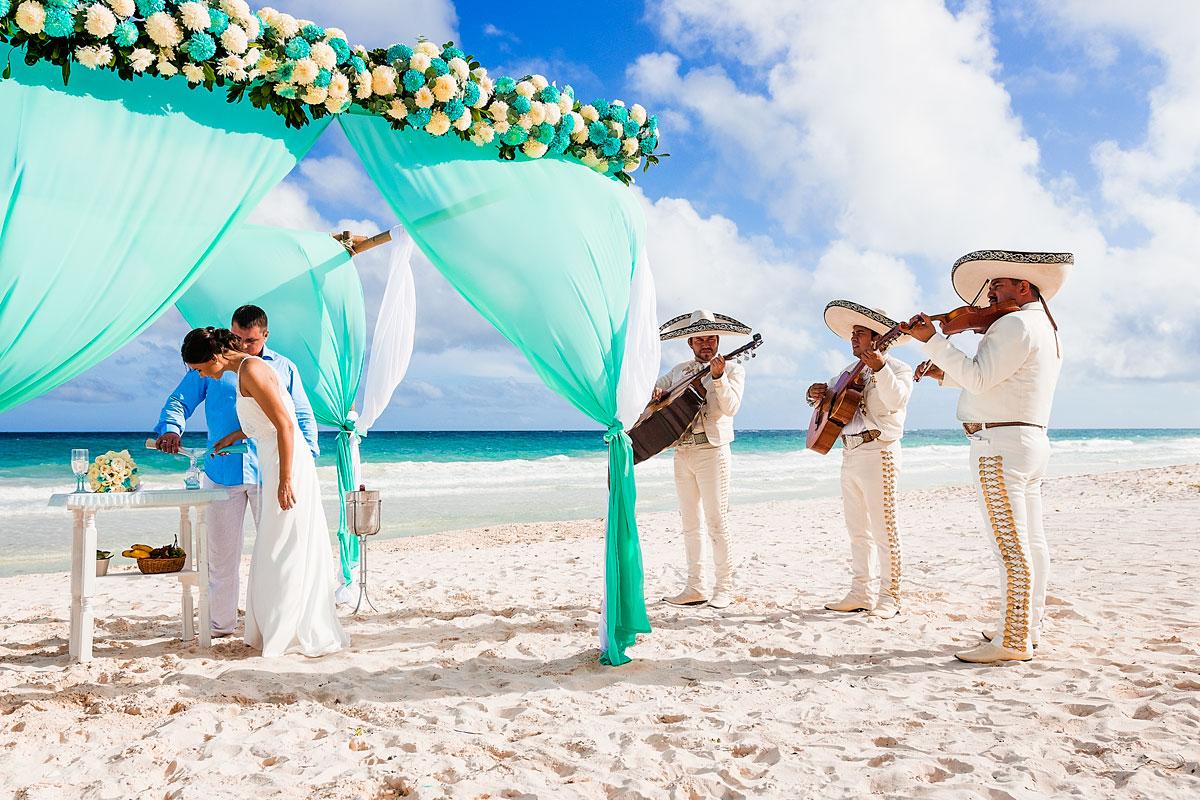 cerimônia de casamento a dois em Cancún