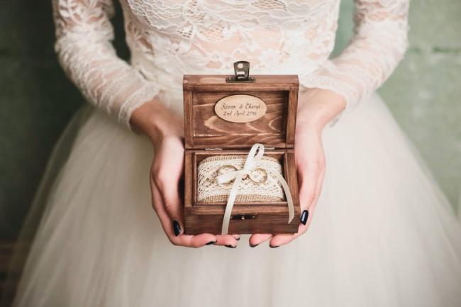 acessório de casamento rústico