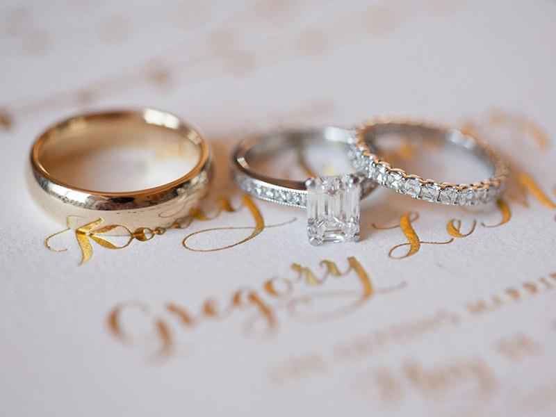 anel, aliança e aparador de aliança