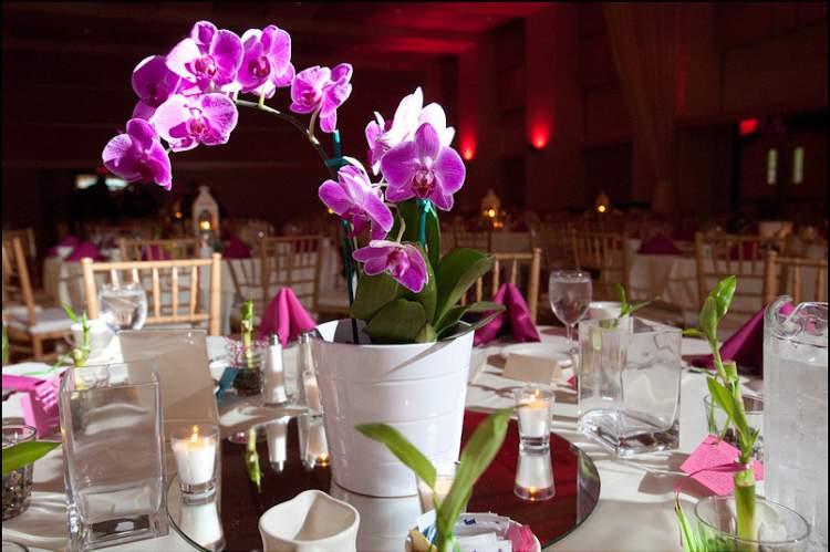 flores para decoração de casamento